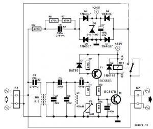 Mains Remote Switch Schematic Circuit Diagram 2