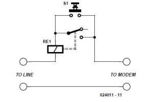 Modem Line Protection Schematic Circuit Diagram