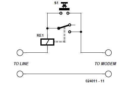 Modem Line Protection Schematic Circuit Diagram