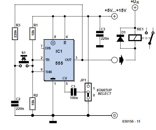 On/Off Button Schematic Circuit Diagram