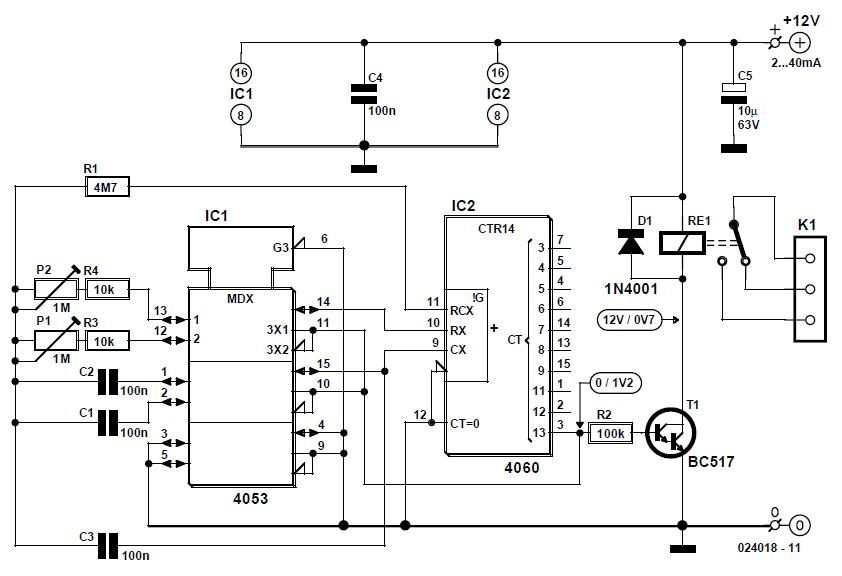 On/Off Timer Schematic Circuit Diagram
