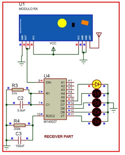 Remote controlled Home automation without using microcontroller (Part-1) Schematic Circuit Diagram 2