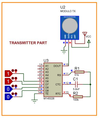 Remote controlled Home automation without using microcontroller (Part-1) Schematic Circuit Diagram