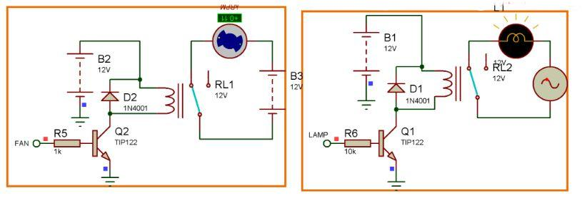 Remote controlled Home automation without using microcontroller (Part-2) Schematic Circuit Diagram 2