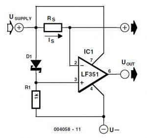 Sensitive Overload Sensor Schematic Circuit Diagram