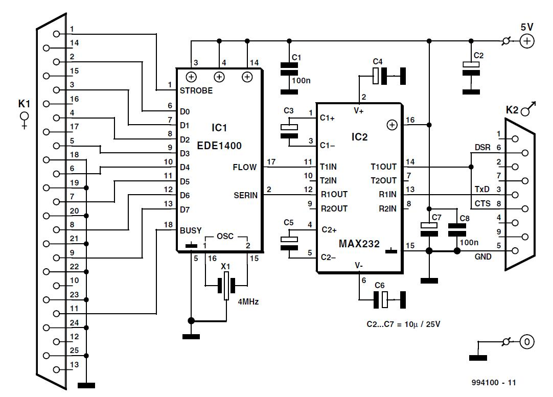 Serial To Parallel Converter Schematic Circuit Diagram Wiring