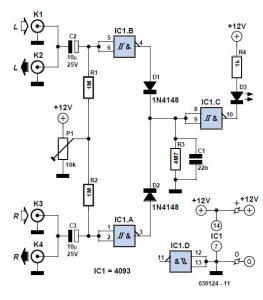 Simple Audio Peak Detector Schematic Circuit Diagram