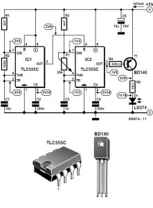 Simple Infrared Light Barrier Schematic Circuit Diagram 1