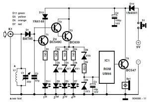 Simple RF Detector for 2 m Schematic Circuit Diagram
