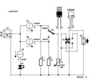Simple mV Source Schematic Circuit Diagram