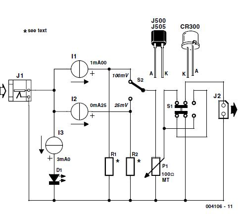 Simple mV Source Schematic Circuit Diagram