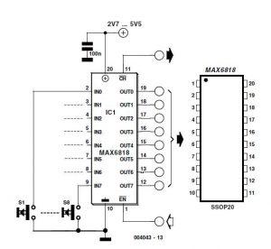 Single-Chip Switch Debouncer Schematic Circuit Diagram 3