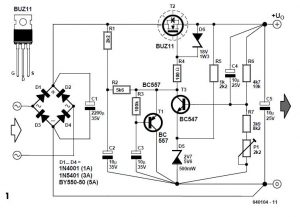 Stable Filament Supply Schematic Circuit Diagram 1