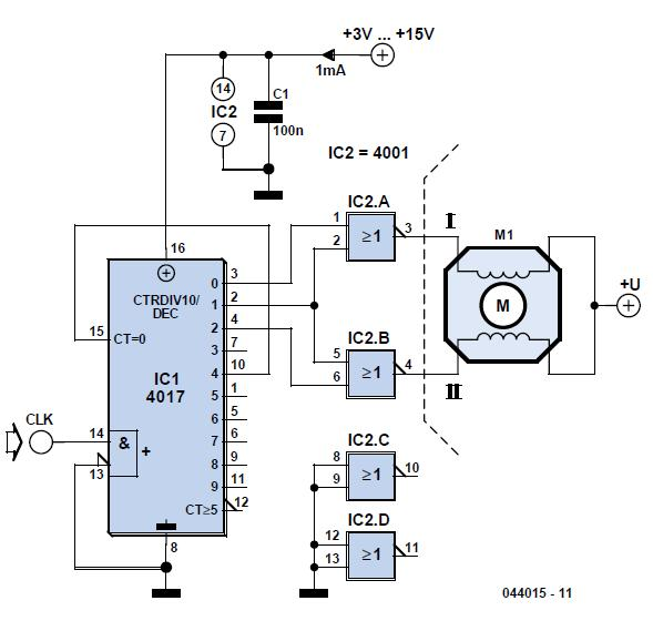 Stepper Motor Generator Schematic Circuit Diagram