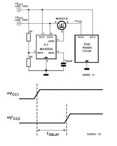 Supply sequencer Schematic Circuit Diagram