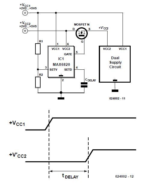 Supply sequencer Schematic Circuit Diagram