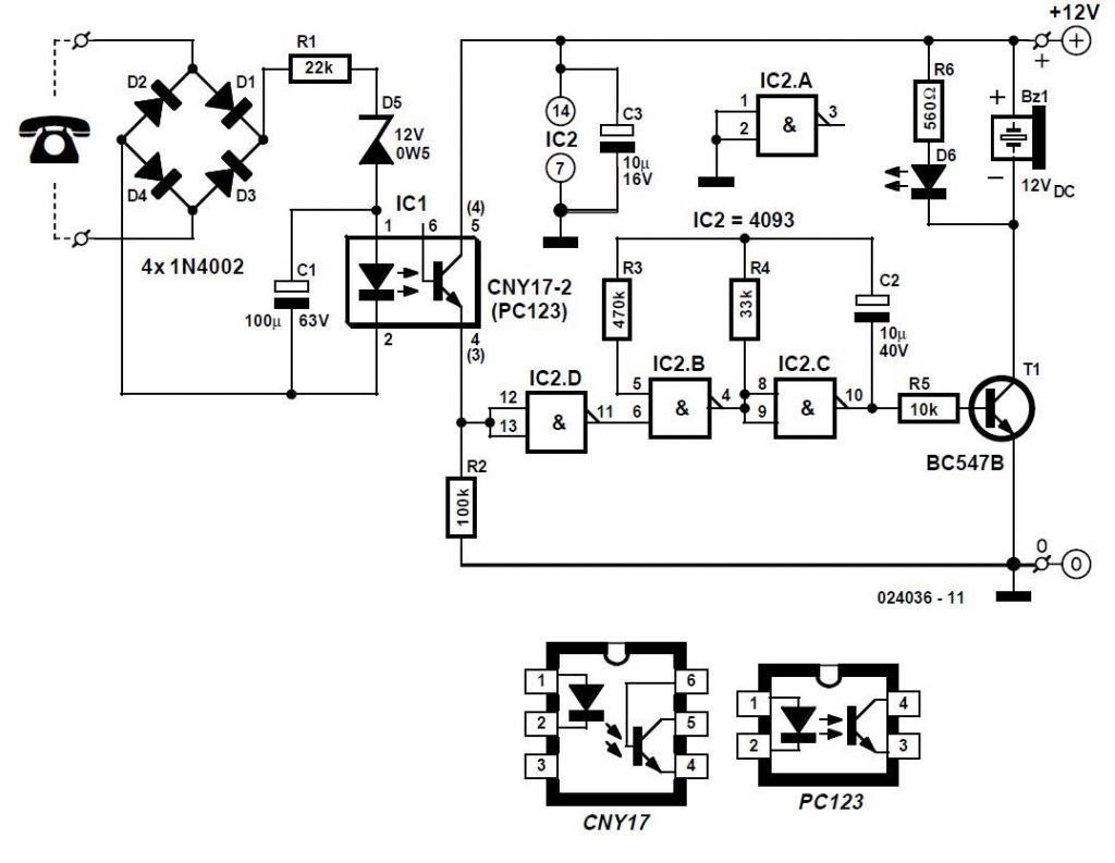Telephone Watchdog Schematic Circuit Diagram