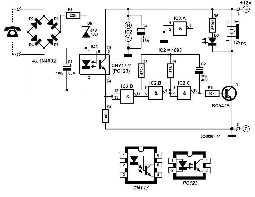 telephone watchdog schematic circuit diagram  electronics and schematic circuit diagrams