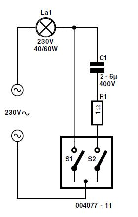 Simple RF Detector for 2 m Schematic Circuit Diagram