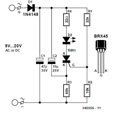 Unusual LED Blinker Schematic Circuit Diagram