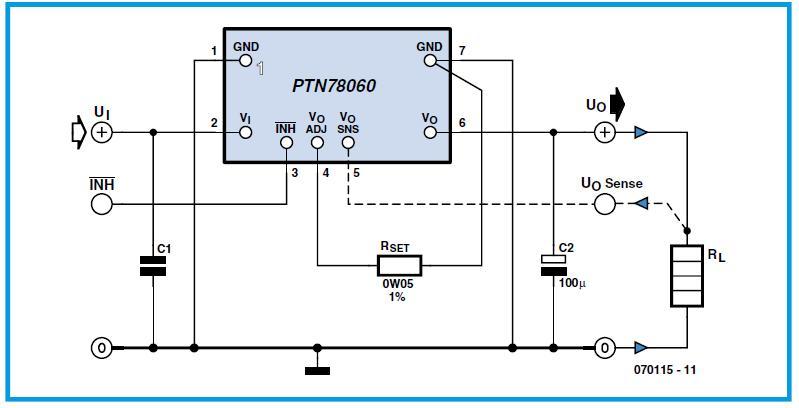 3-A Wide-input Adjustable Switching Regulator Schematic Circuit Diagram 2