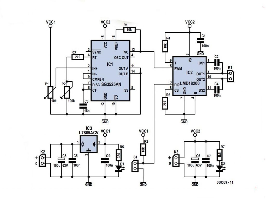 Schematic Circuit Diagram of Internal block diagram of 555-Timer IC proteus simulation