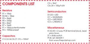3 Amp PWM DC Motor Controller Schematic Circuit Diagram Components List