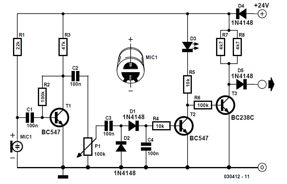 Acoustic Sensor Schematic Circuit Diagram