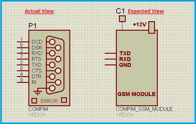 Schematic Circuit Diagram Creating UART Modules-Modifying the COMPORT proteus simulation