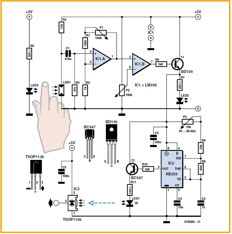 An Obstacle Detecting Robot Schematic Circuit Diagram 1