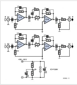 Audio Source Enhancer Schematic Circuit Diagram