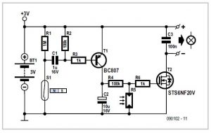 Automatic Bicycle Light Schematic Circuit Diagram 1