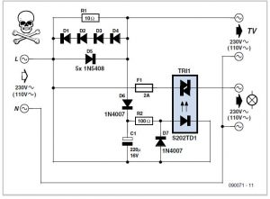 Automatic TV Lighting Switch Schematic Circuit Diagram