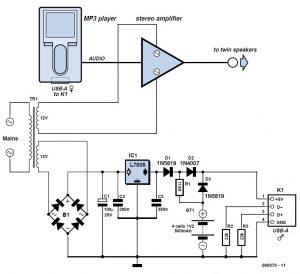 BBC Radio-MP3 for Seniors Schematic Circuit Diagram