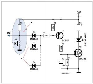 Sensitive Audio Power Meter Schematic Circuit Diagram