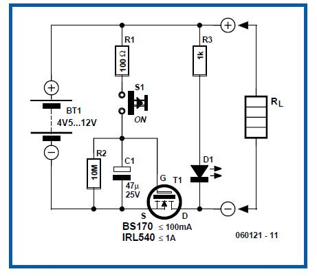 Battery Saver Schematic Circuit Diagram