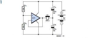 DC-coupled Audio Amplifier Schematic Circuit Diagram 1