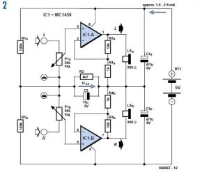 DC-coupled Audio Amplifier Schematic Circuit Diagram 2