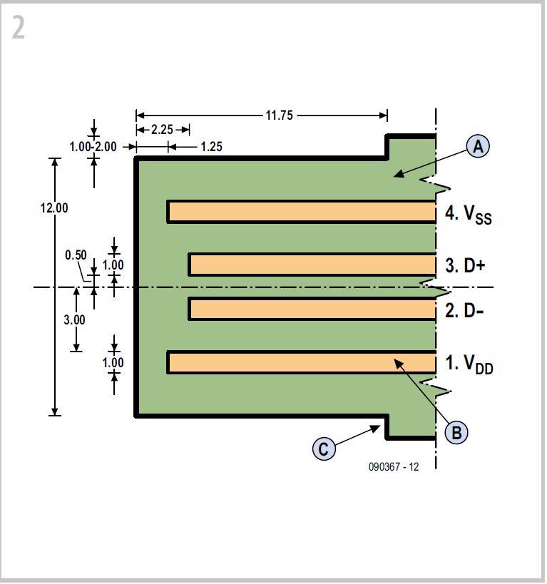 Driver Free USB Schematic Circuit Diagram 2
