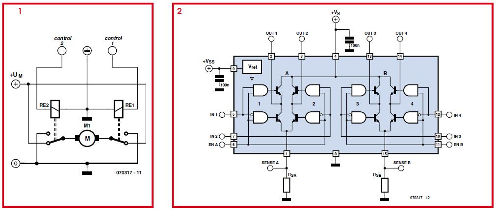 Driving Higher Power DC Motors Schematic Circuit Diagram