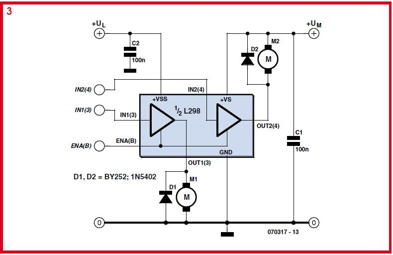 Driving Higher Power DC Motors Schematic Circuit Diagram 2