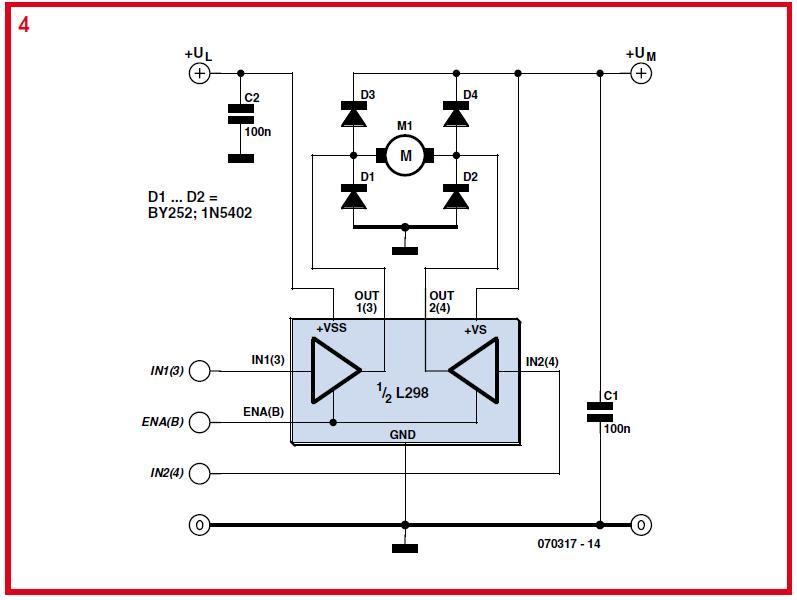 Driving Higher Power DC Motors Schematic Circuit Diagram 3