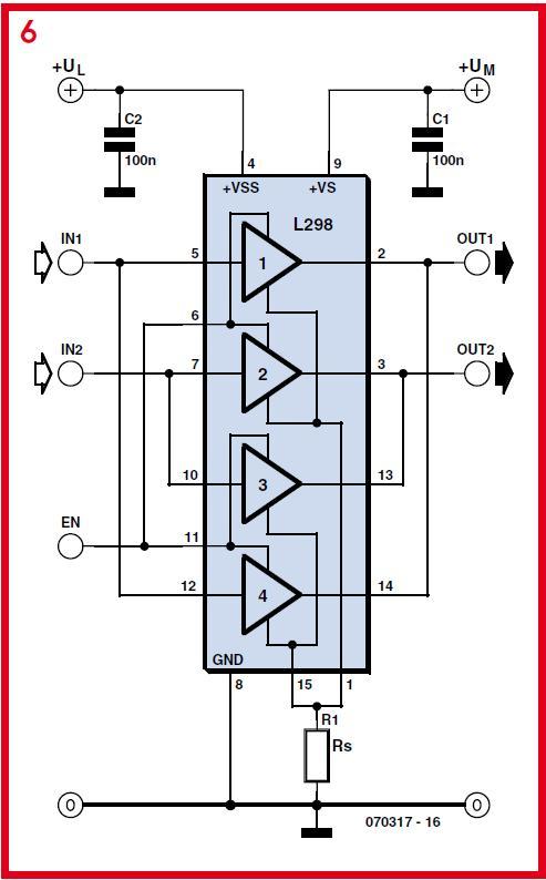 Driving Higher Power DC Motors Schematic Circuit Diagram 5