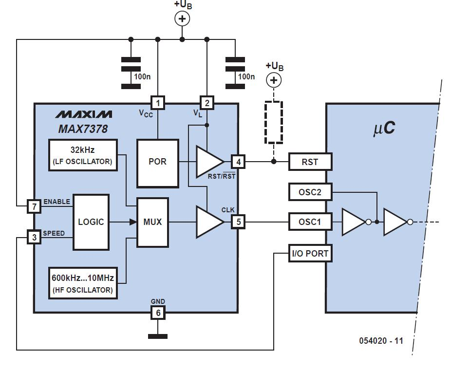 Dual Oscillator 098 for μCs Schematic Circuit Diagram