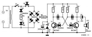 EMD-immune Electronic Doorbell Schematic Circuit Diagram