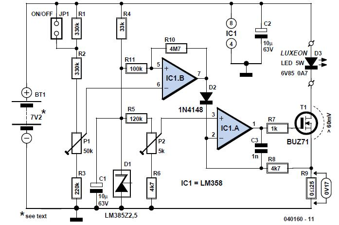 Stable USB Power Supply Schematic Circuit Diagram