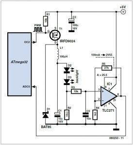 Energy-efficient Backlight Schematic Circuit Diagram