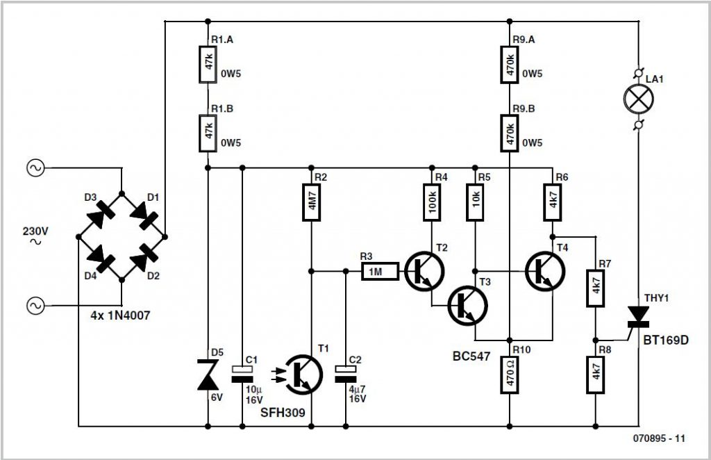 Radio Control Signal Frame-rate Divider Schematic Circuit Diagram