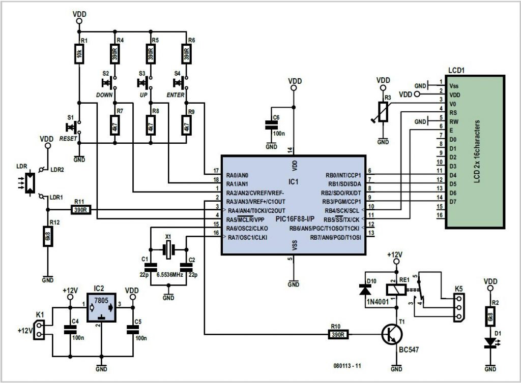 Solar Cell Voltage Regulator Schematic Circuit Diagram