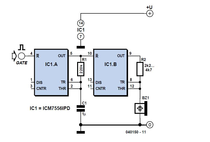 Gated Alarm Schematic Circuit Diagram